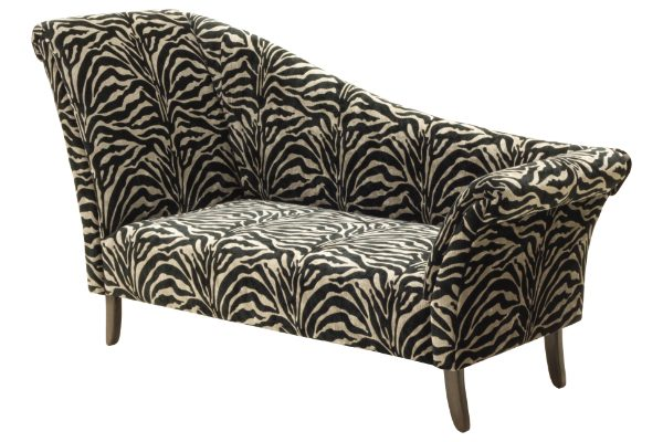 Mode double ended chaise longue handmade sofa company dorset for Animal print chaise longue