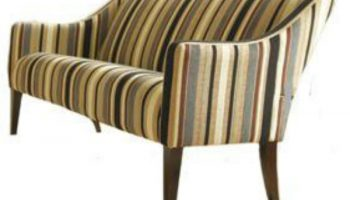 Austen large sofa in cut velvet stripe