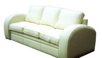 Burroughs 3 seater sofa in white leather
