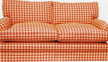 Conrad 2 seater sofa in red and white gingham checks