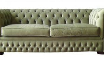 Cowdrey 3 seater Chesterfield in sage velvet