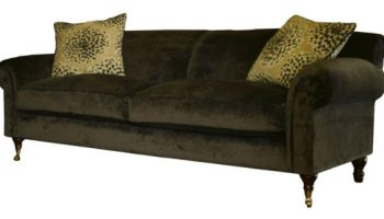 Defoe 3 seater sofa in chocolate crushed velvet
