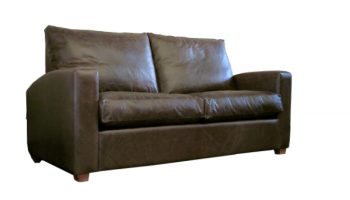 Golding 2 seater sofa in dark brown leather