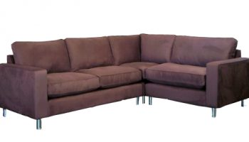 Huxley corner sofa in dark brown faux suede