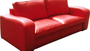 Ludlum 3 seater sofa in red leather