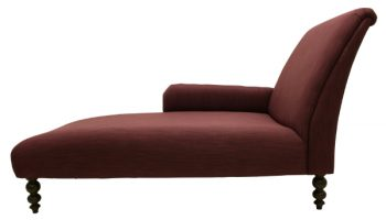 Mode Extra Large chaise longue in plum