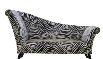 Mode double ended chaise longue in zebra stripe