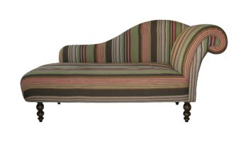 Regency extra large chaise longue in lewis & wood stripe