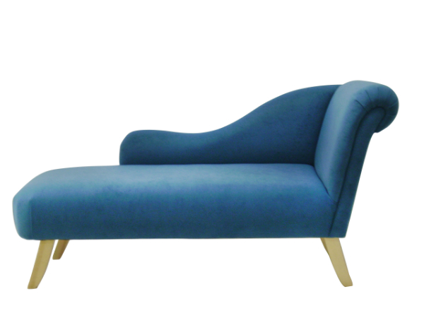Regency large chaise longues in any leather or fabric for Blue chaise longue