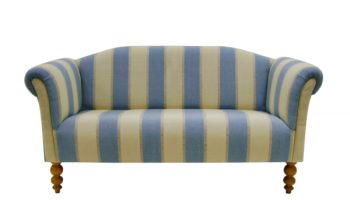 Regency larger medium chaise sofa in Malabar stripe