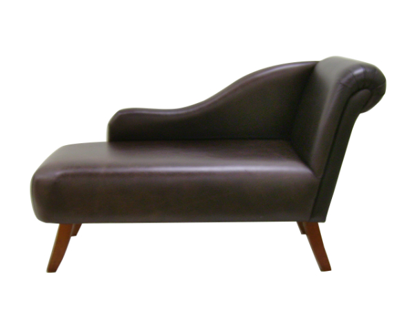 Regency medium chaise longue in any leather or fabric for Brown chaise longue