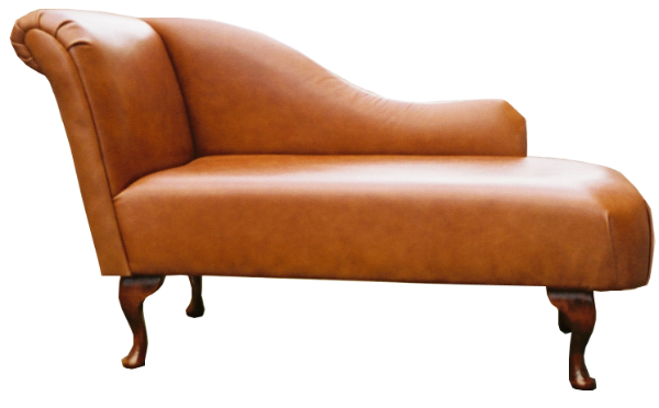 Regency medium chaise longue in any leather or fabric for Brown leather chaise longue