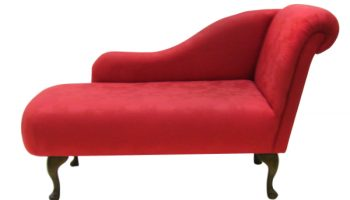 Regency medium chaise longue in red