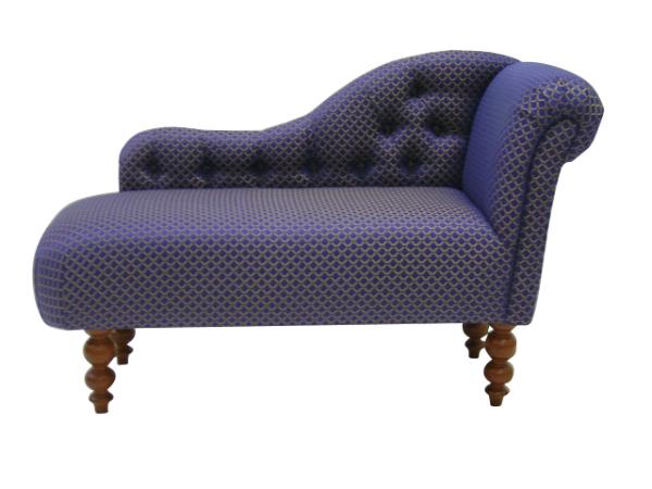 Small chaise longue the handmade sofa company handmade for Blue chaise longue