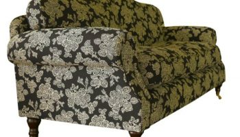 Tennyson 3 seater sofa in black & cream flowers