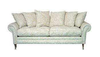 Thackeray 3 seater with scatter back in ivory damask