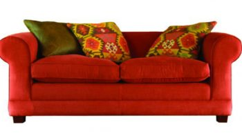 Trollope 3 seater sofa in red
