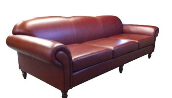 Waugh 4 seater sofa in chestnut leather
