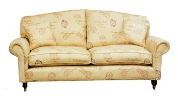 fitzgerald 3 seater in gold pattern