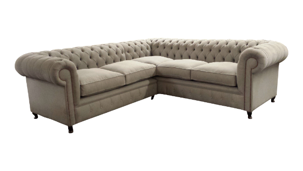 Handmade Chesterfield corner sofas made in any leather or fabric to any size Handmade Sofa