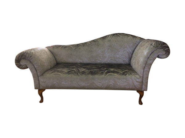 Double ended chaise longue in any leather and fabric the for Chaise longue double sofa bed
